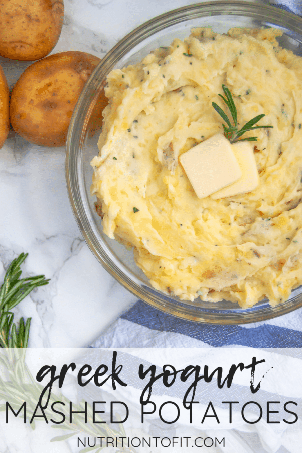 Greek yogurt mashed potatoes are a lighter mashed potato recipe that are packed with flavor. They're your perfect go-to homemade mashed potato recipe, even for Thanksgiving!