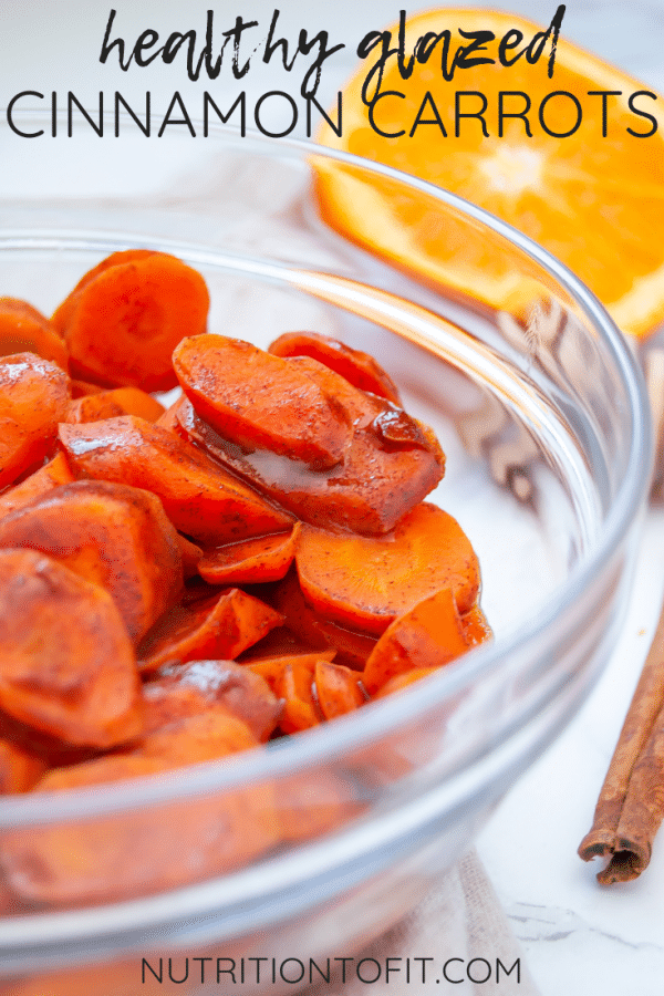 Healthy cinnamon carrots are an easy recipe for healthy glazed carrots. They're an easy side dish recipe perfect for holiday menus and Thanksgiving dinners to everyday weeknight dinners!