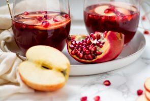 Sparkling Pomegranate Apple Cider Mocktail
