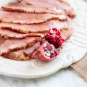 Pomegranate Maple Glazed Ham