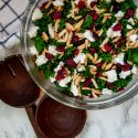 Winter Kale Salad with Cranberries and Cranberry Vinaigrette