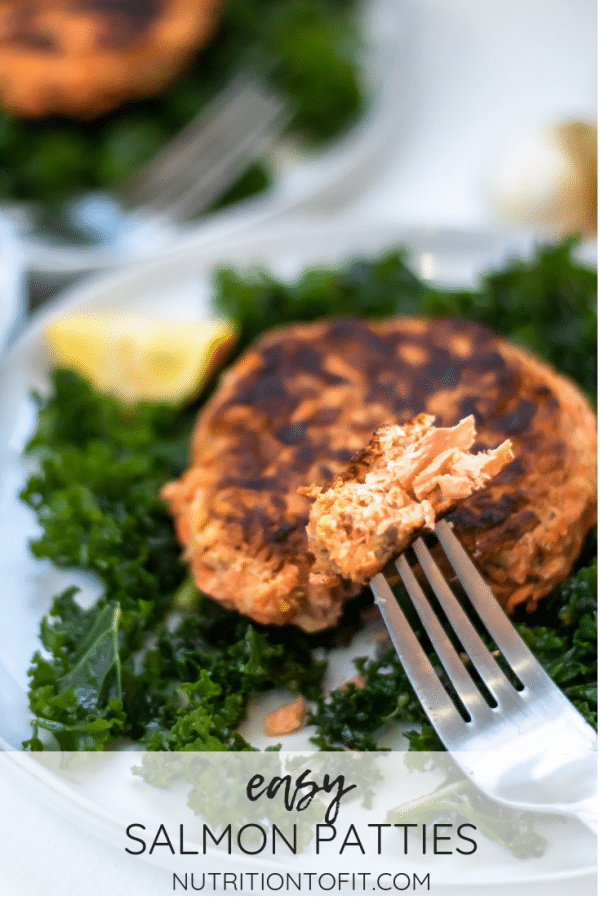 Pinterest Image for Easy Salmon Patties