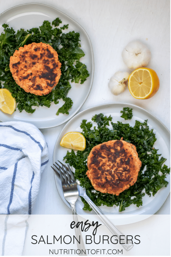Pinterest Image for Easy Salmon Burgers