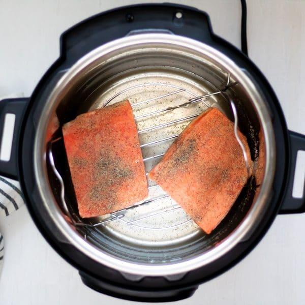 Frozen salmon fillets in the Instant Pot