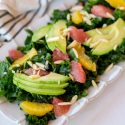 Citrus Kale Salad with Grapefruit Vinaigrette