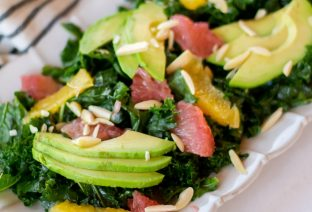 Citrus Kale Salad with Grapefruit Vinaigrette