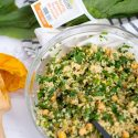 Chickpea Quinoa Salad with Turnip Greens