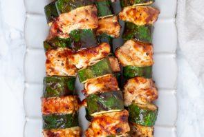 BBQ Chicken Skewers with Zucchini