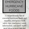 Hurricane Food List & Food Safety Tips