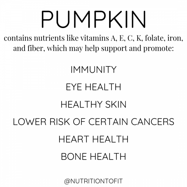 health benefits associated with nutrients in pumpkin