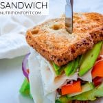pinterest image for turkey avocado sandwich