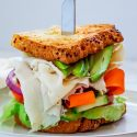 Turkey Avocado Sandwich with Veggies