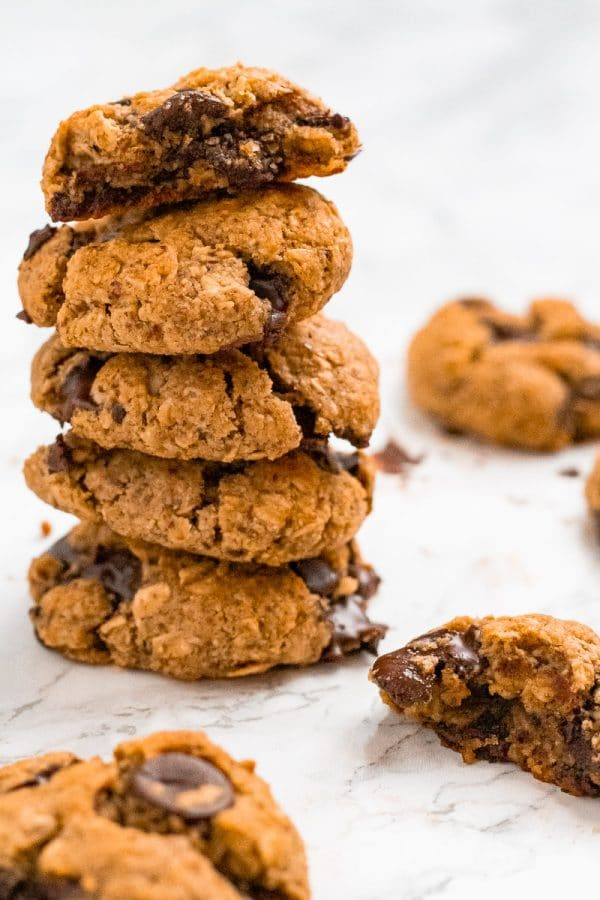 a stack of cookies