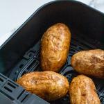 pinterest image air fryer baked potato