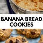 pinterest image of banana bread cookies