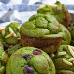 Pinterest image of spinach banana muffins