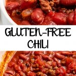 Pinterest image of gluten-free chili