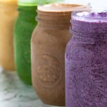 smoothiebox smoothies in mason jars