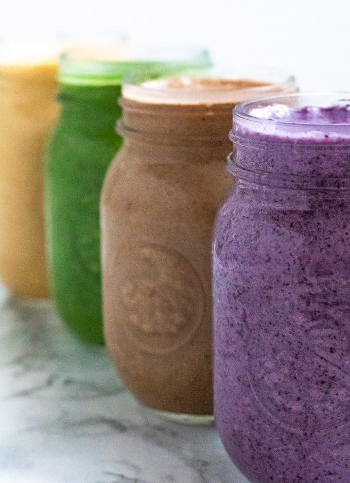 smoothiebox smoothies in mason jars