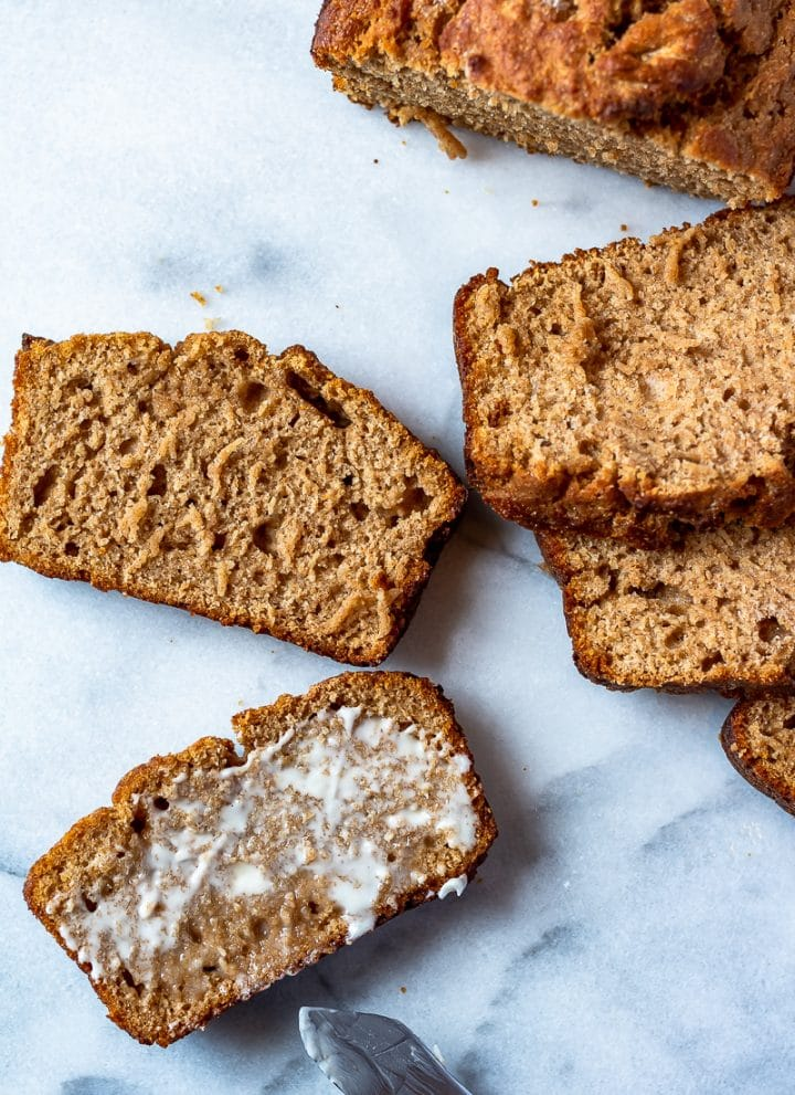 slices of whole wheat honey beer bread